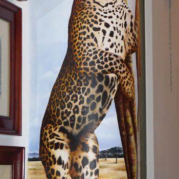 Acrilico su muro - particolare con giaguaro