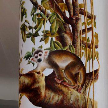 Acrilico su muro - particolare con scimmietta