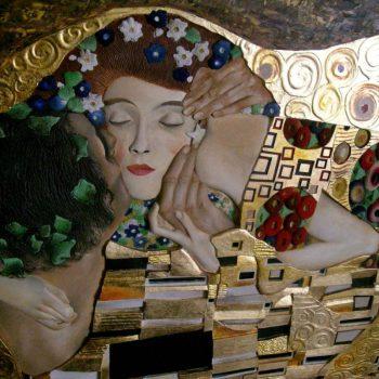 Il bacio, Klimt - particolare