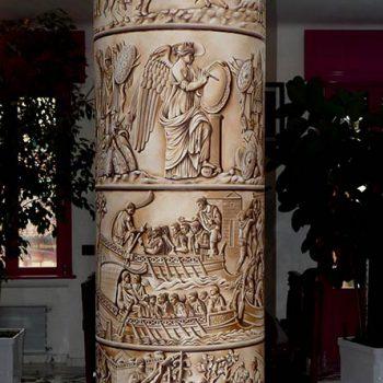 Pittura ad olio su muro Colonna Traiana