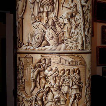 Pittura ad olio su muro Colonna Traiana - particolare