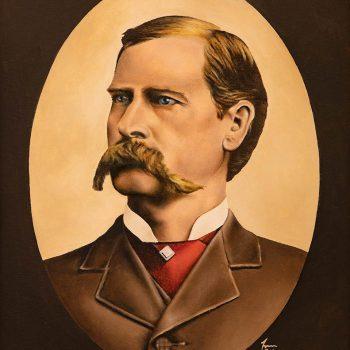 Wyatt Earp - olio su tela - ritratto da foto d'epoca